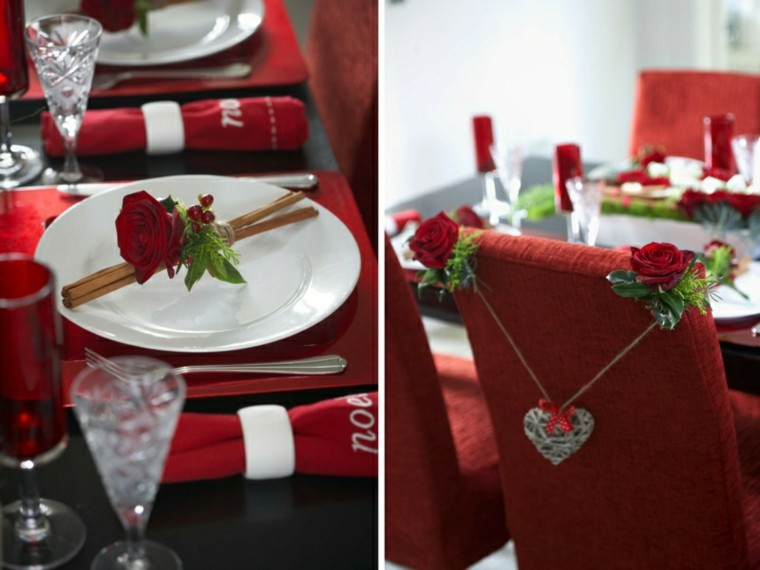 cenas de navidad rosas rojas