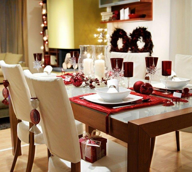 cenas navidad recetas decorar mesa bolas rojas ideas