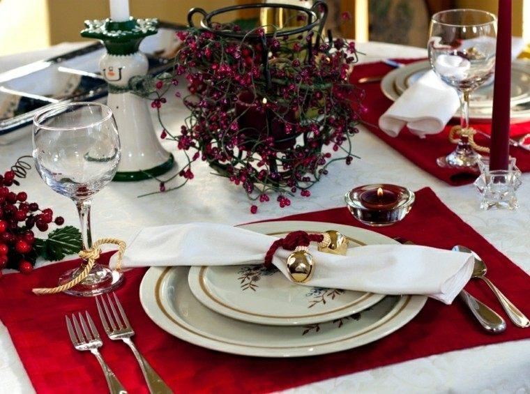cenas navidad recetas decorar mesa campanitas plato ideas