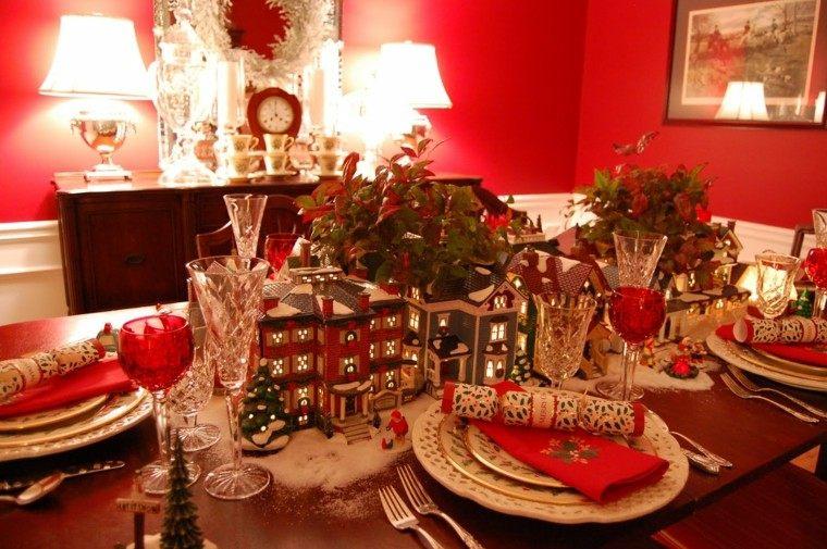 cenas navidad recetas decorar mesa casitas ideas