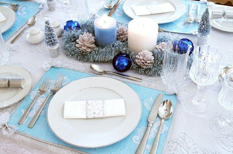 cenas navidad recetas decorar mesa guirnaldas plata ideas