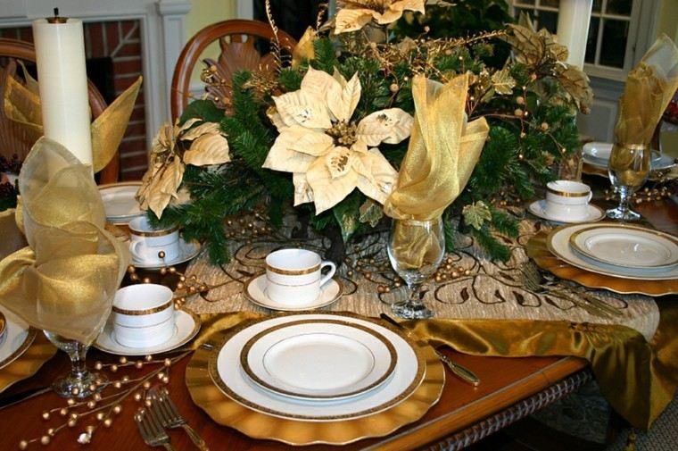 cenas navidad recetas decorar mesa oro ideas