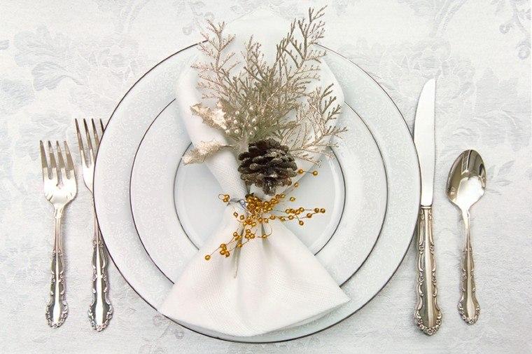 cenas navidad recetas decorar mesa pinas ramas plata ideas