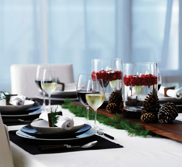 cenas navidad recetas decorar mesa pinas ideas