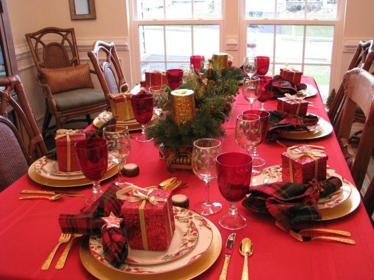 cenas navidad recetas decorar mesa regalo rojo ideas
