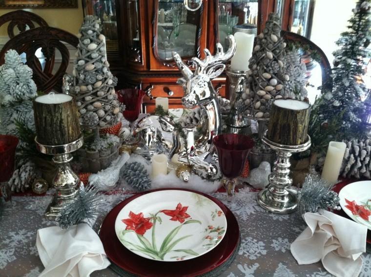 cenas navidad recetas decorar mesa reno plata ideas