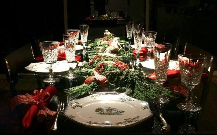 cenas navidad recetas decorar mesa servilletas rojas ideas