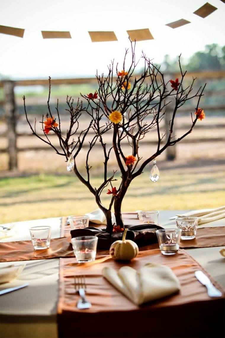 centro de mesa ideas arbol interesante precioso