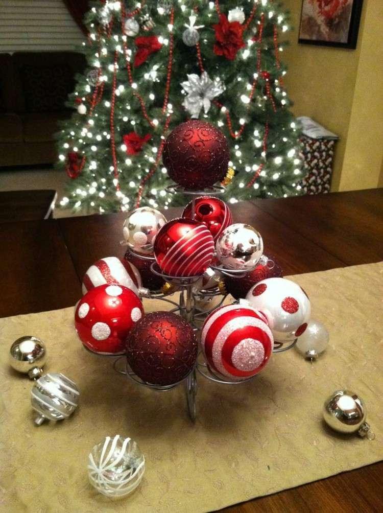 Cena de navidad cincuenta ideas para decorar la mesa - Bolas para decorar ...
