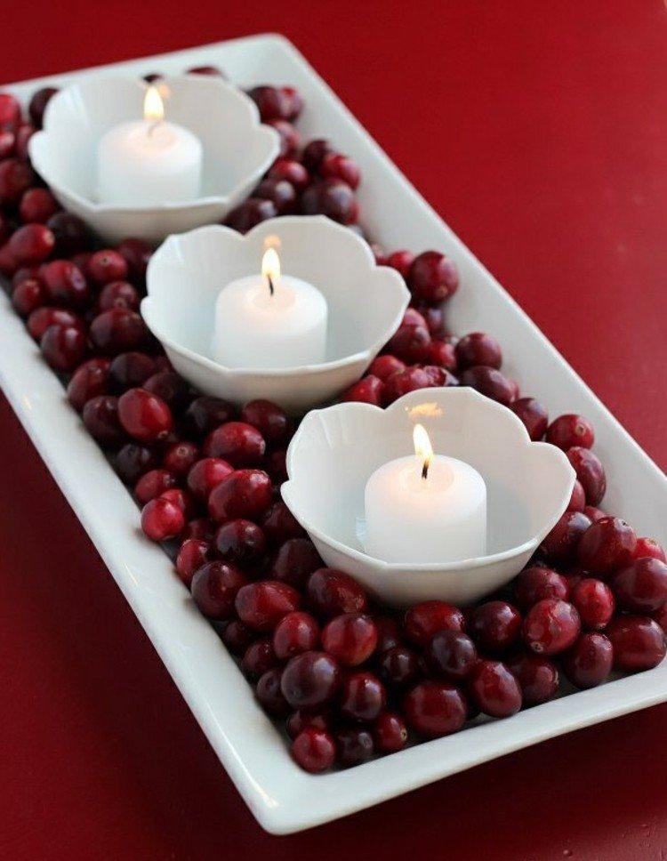 centro mesa calido acogedor velas estilo