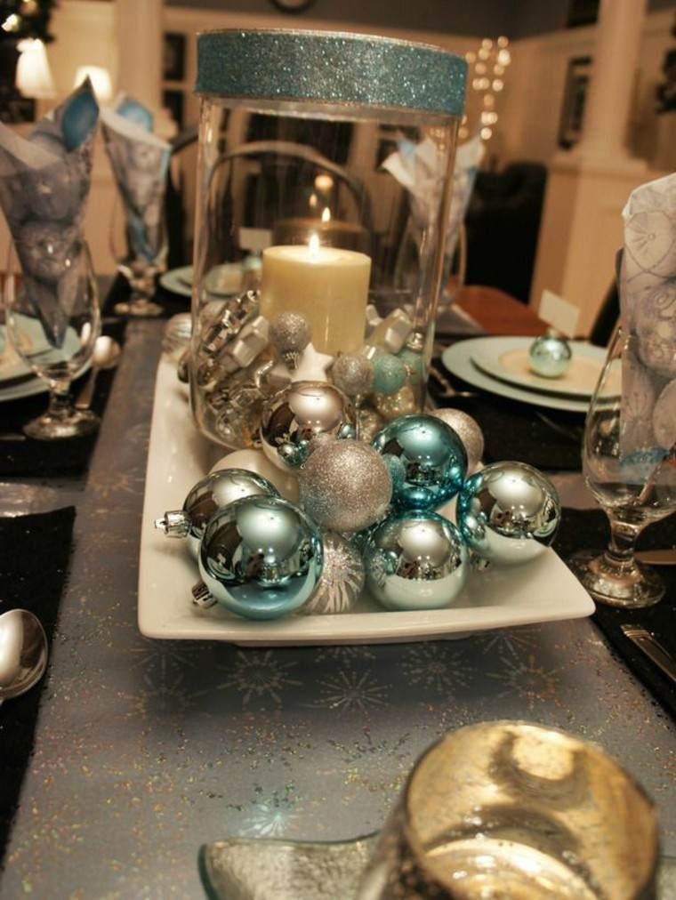 centro mesa diseño bolas velas