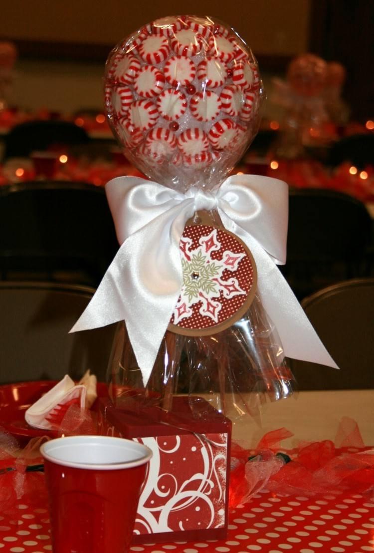 centro mesa dulces navidad caramelos