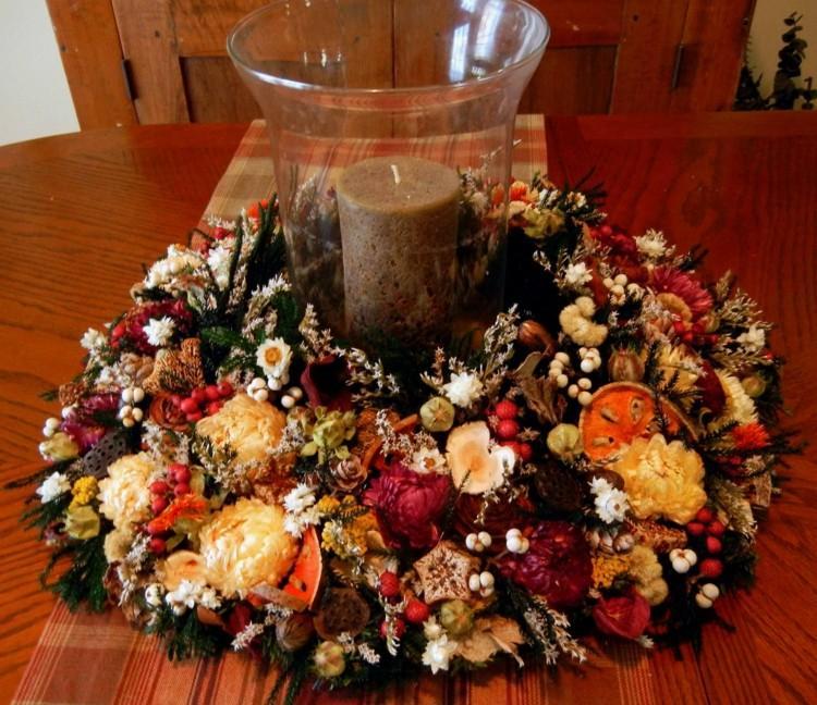 centro mesa frutas flores colores
