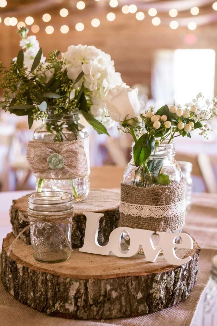 centro mesa ideas estilo rustico madera original