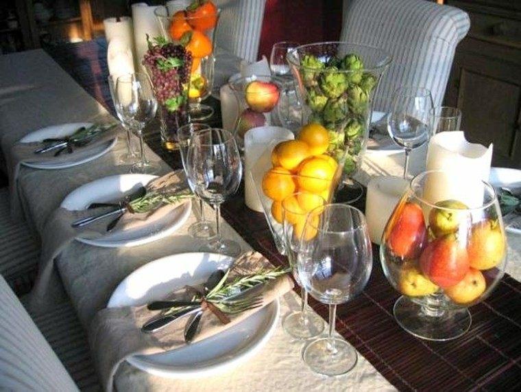 centro mesa ideas peras limones jarrones cristal original