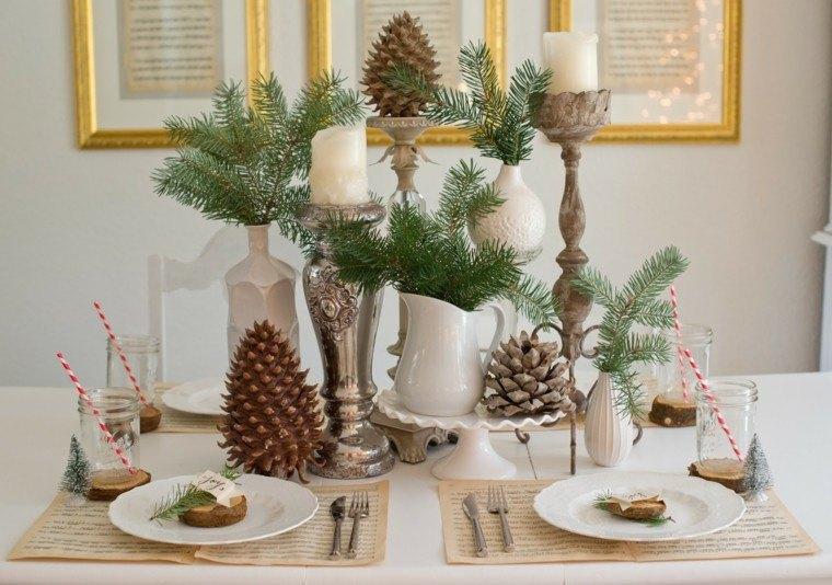 centro mesa ideas pinas pino ramas pino originales