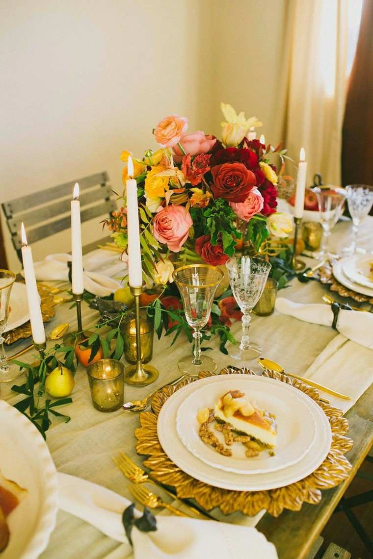 centro mesa rosas varios colores