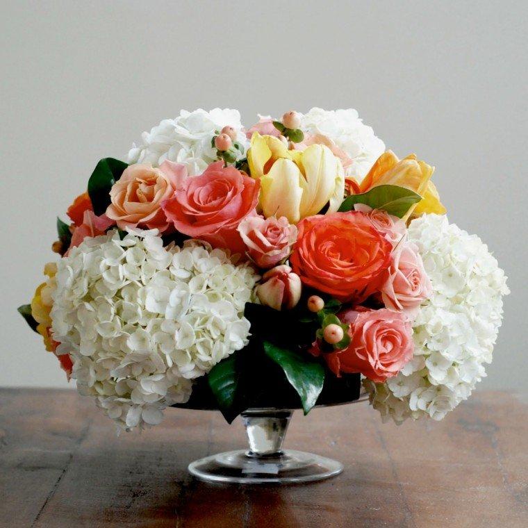 centros demesa flores adorables