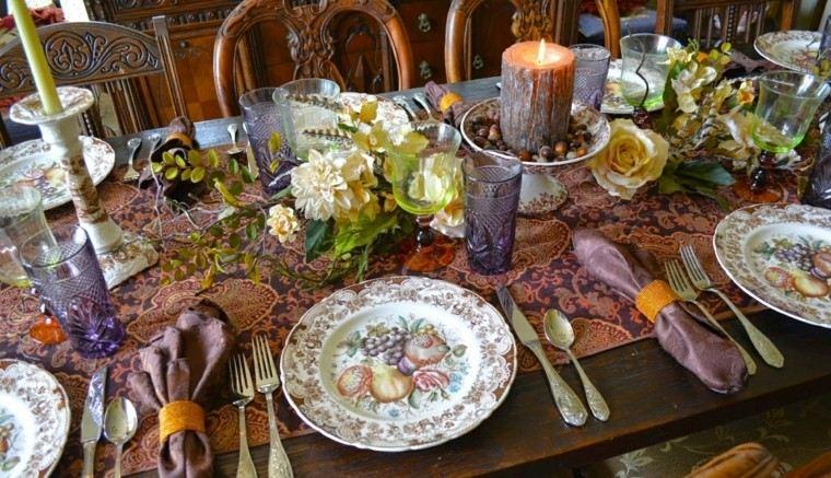 centros de mesa originales ideas candelabro madera original