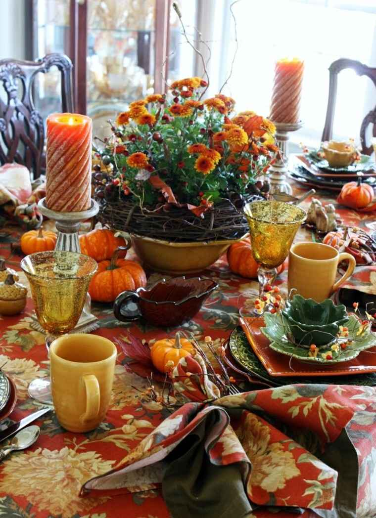 centros de mesa originales ideas flores ramas precioso