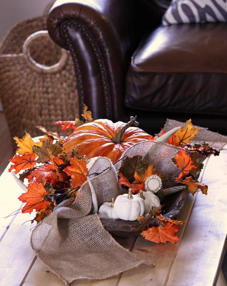 centros de mesa originales ideas vintage calabaza otoño