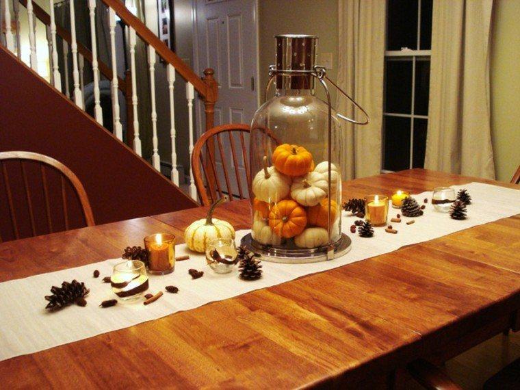 centros de mesa originales mesa alargada escalera