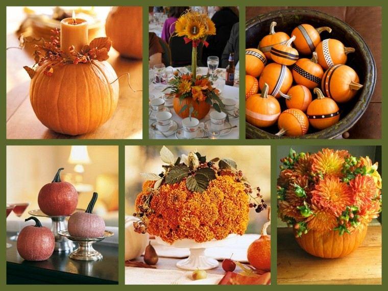 centros de mesa originales variados modelos naranja