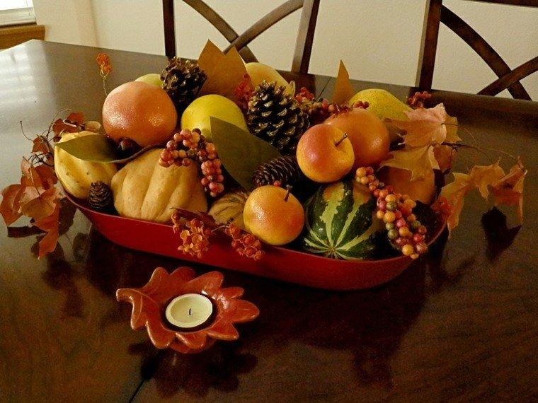 centros de mesa otoño decoracion elegante natural natural