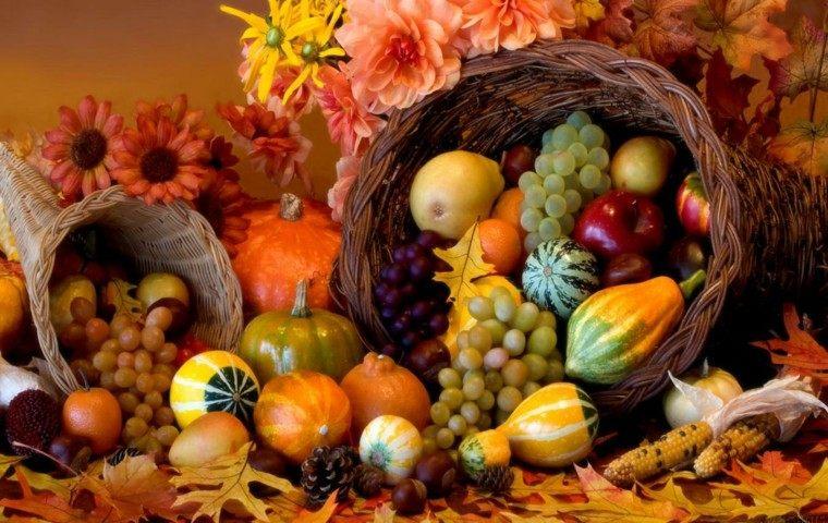 centros de mesa otoño decoracion grande frutas