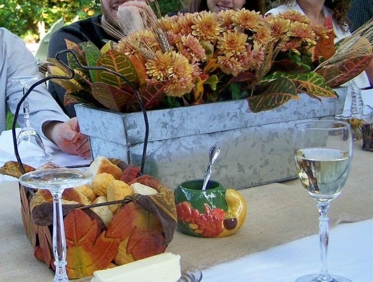 centros de mesa otoño decoracion ideas copas
