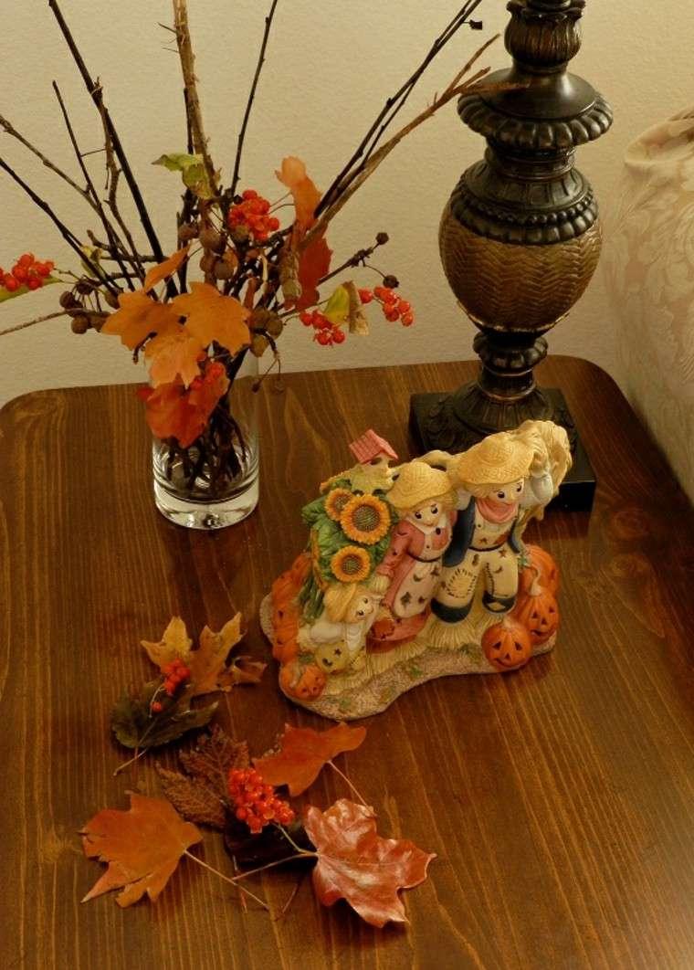centros de mesa otoño ramas naturales ramas