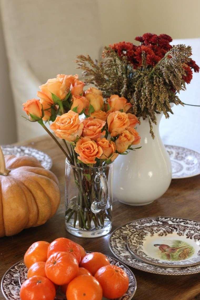 centros de mesa flores frutas