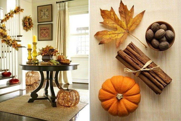centros mesa originales ideas calabazas canela otoño