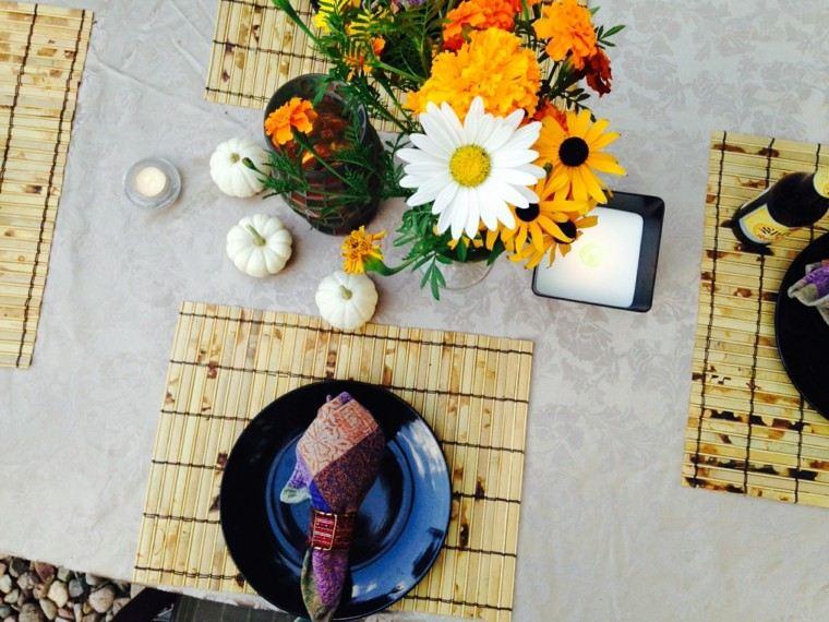 centros mesa originales ideas calabazas flores otoño