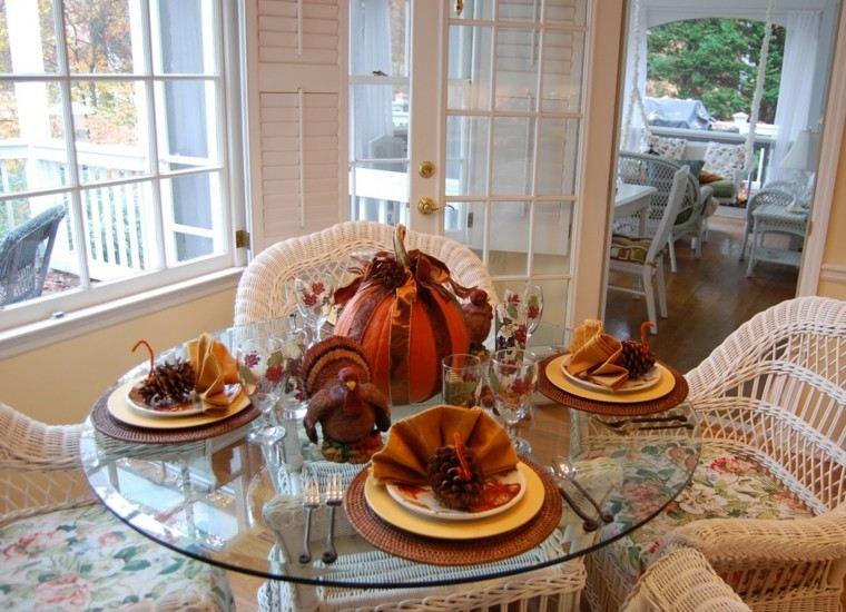 centros mesa originales ideas pinas platos otoño