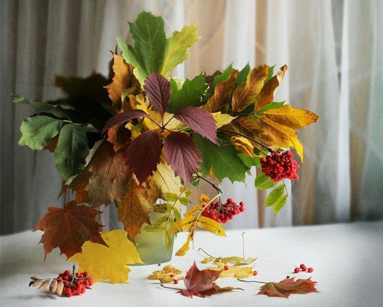 centros mesa originales ideas ramas hojas jaron otoño