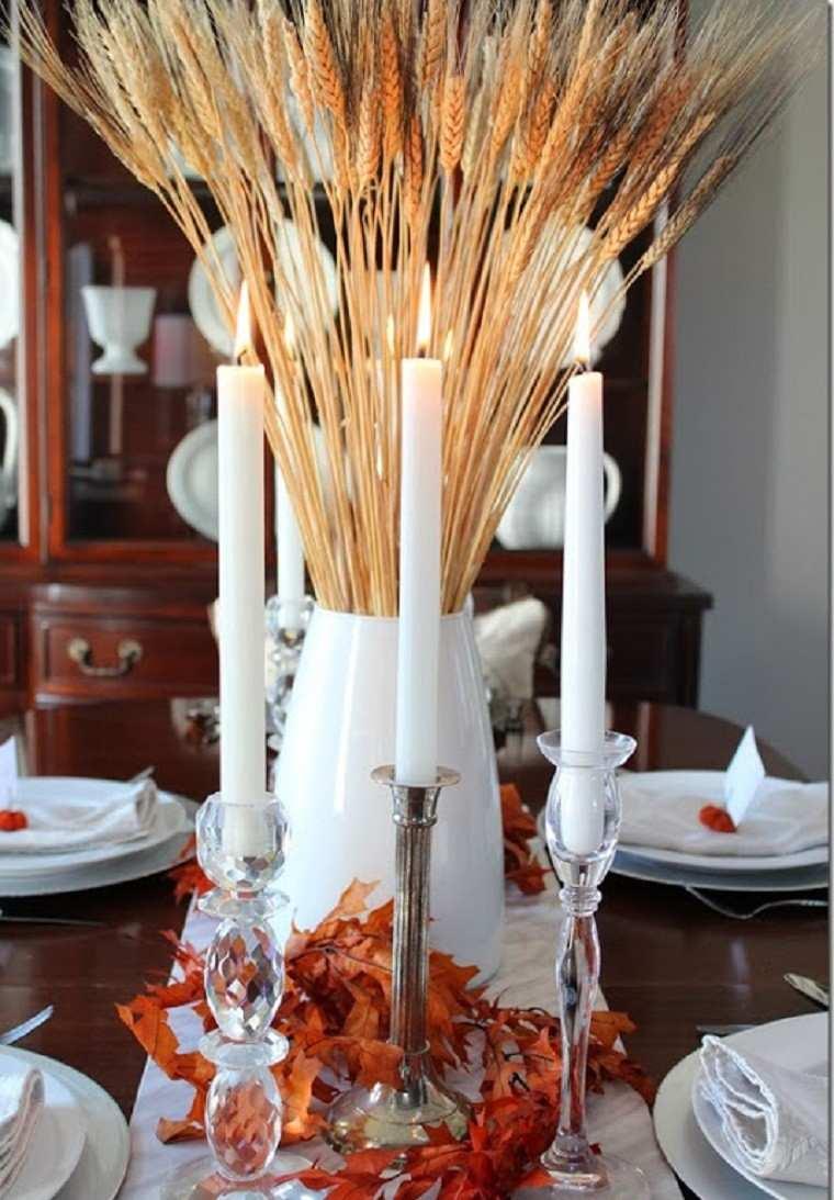 centros mesa originales ideas trigo jarron blanco moderno