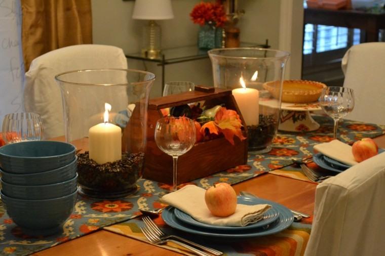 centros mesa originales ideas velas cafe manzanas otoño