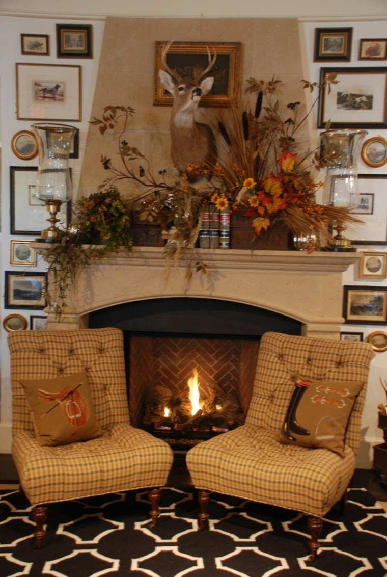 chimenea clasica casa campo fuego