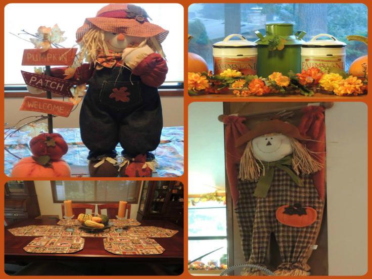 adornos otoño cocina muñecos