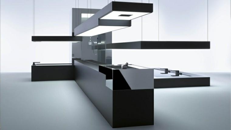 cocina moderna modulo color negro