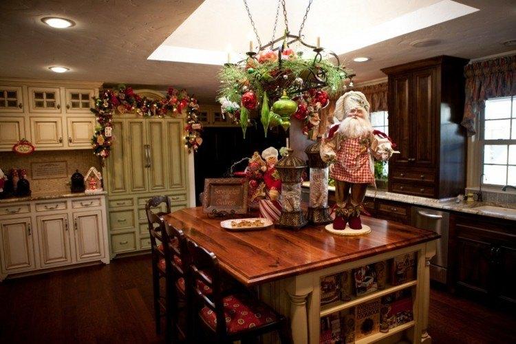cocinas navidad elegante madera mesas