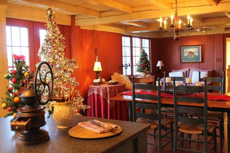 cocinas navidad elegante mesa estilos flores