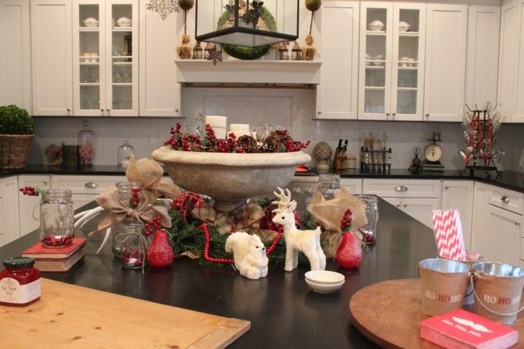 cocinas navidad elegante mesa meseta oscuro
