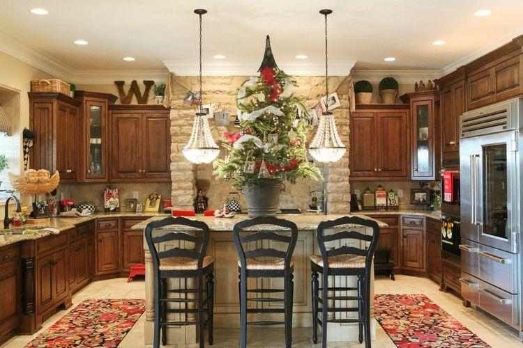 cocinas navidad elegante mesa tradicional letra