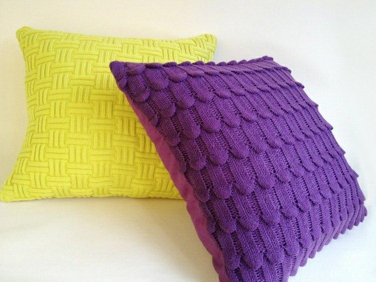 cojines originales fundas lana colores