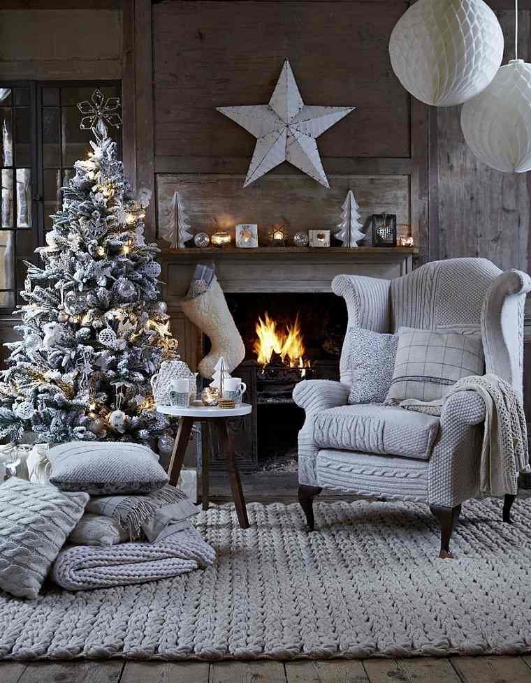 Resultado de imagen de decoracion navidad plata