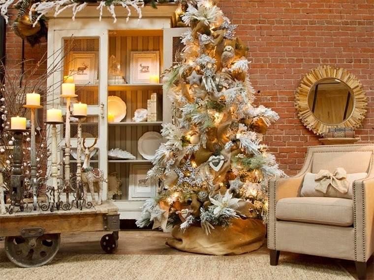 9091f8ca2107d color blanco oro adornos elegantes casa navidad salon rustico ideas