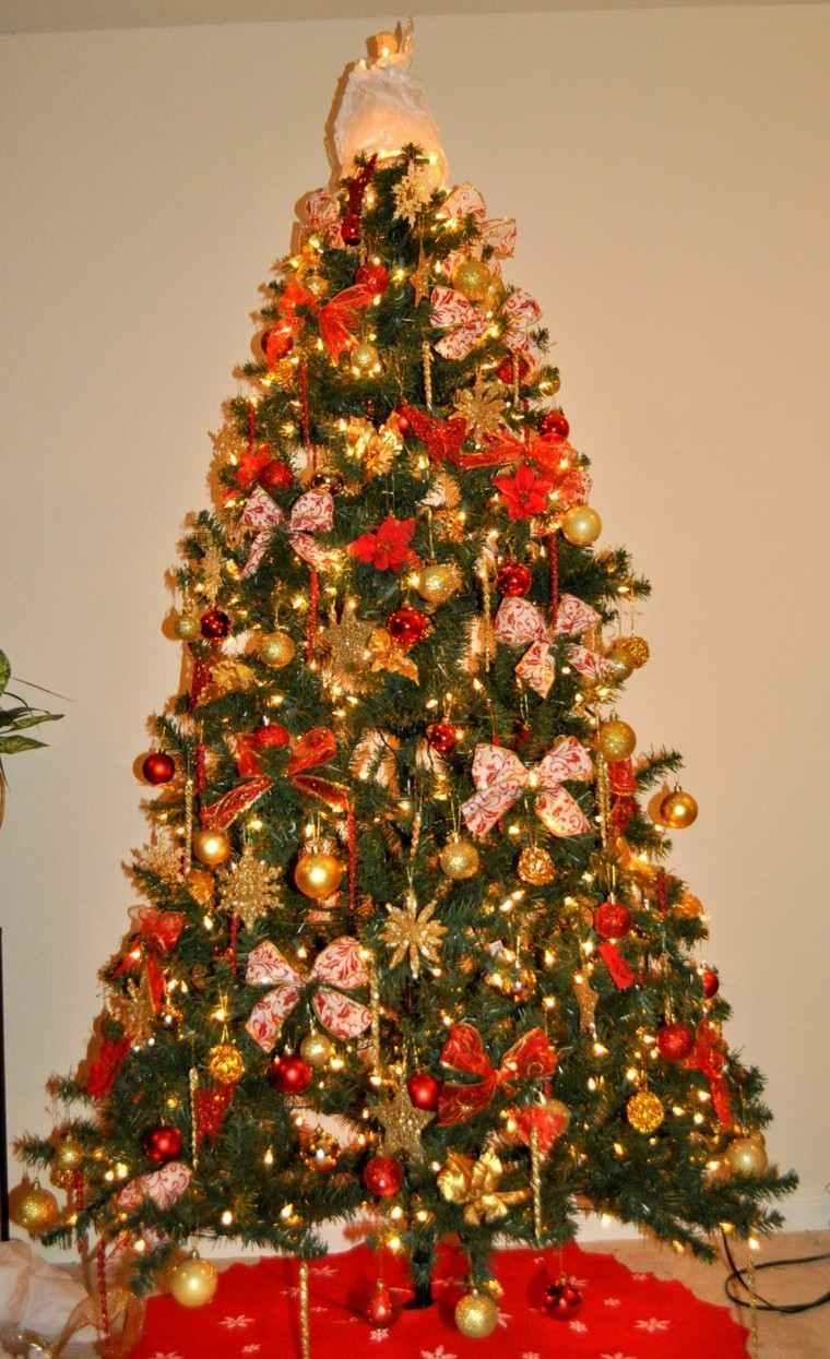 Color rojo y oro ideas para los adornos de navidad - Arbol de navidad adornos ...