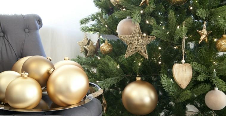 color rojo oro adornos navidad bolas corazones ideas